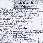 Kirchenbuch von 1676