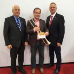 Präsident Günther HWK Schwerin und Staatssekretär Dr.Rudolph, Wirtschaftsministerium Schwerin